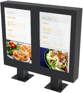 Outdoor Digital Menu Board Enclosures