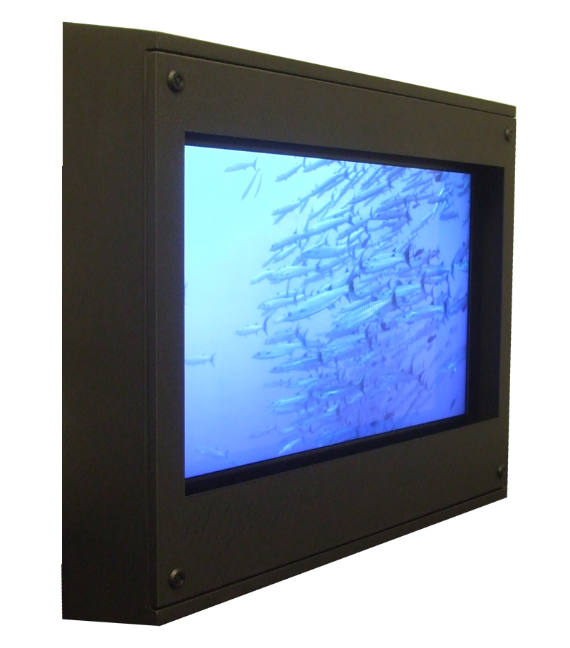 Sloped Top LCD TV Enclosure