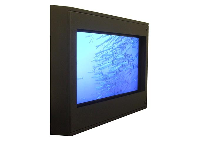Sloped Top TV Enclosure