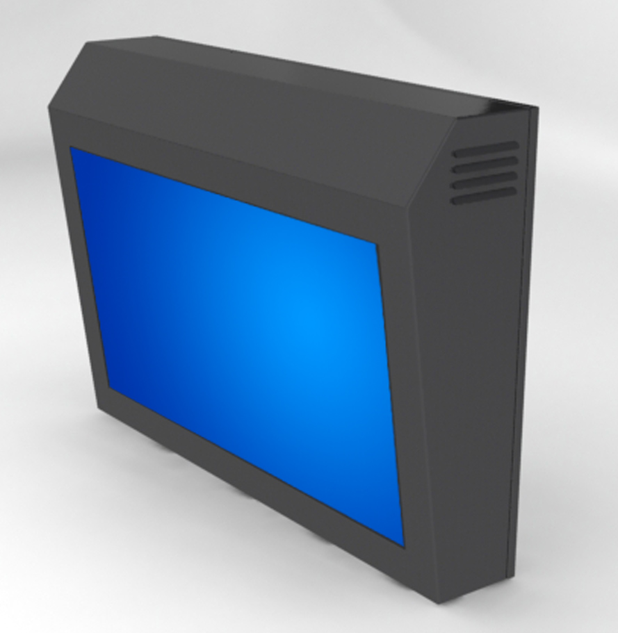 LCD Enclosure - Tilted
