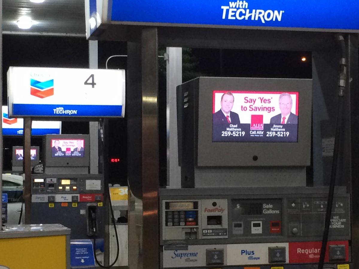 Fuel Pump Top Digital Signage